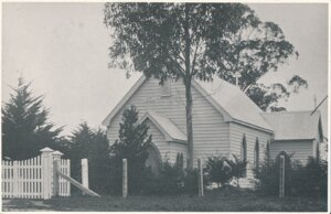 The first Catholic Church in 1877.