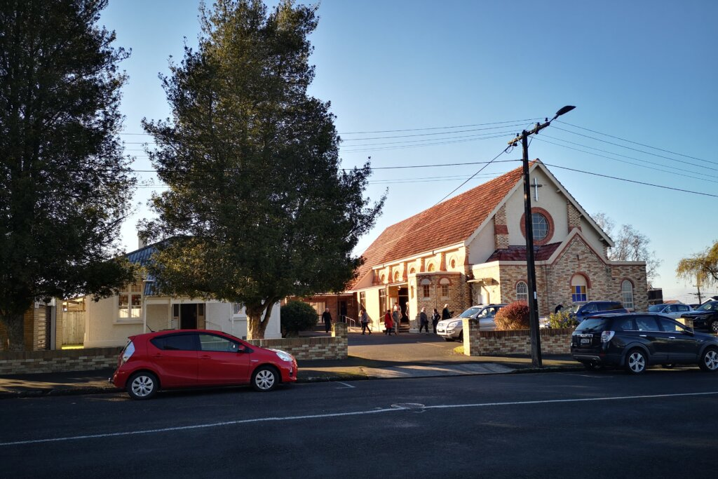 St Peter's Catholic Church from across the road.