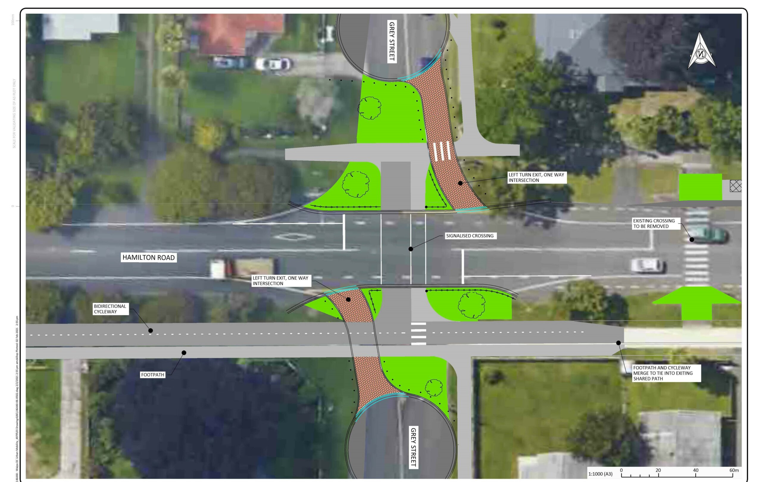 Grey Street intersection changes